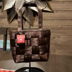 Harveys seatbelt bags, small tote, chocolate brown